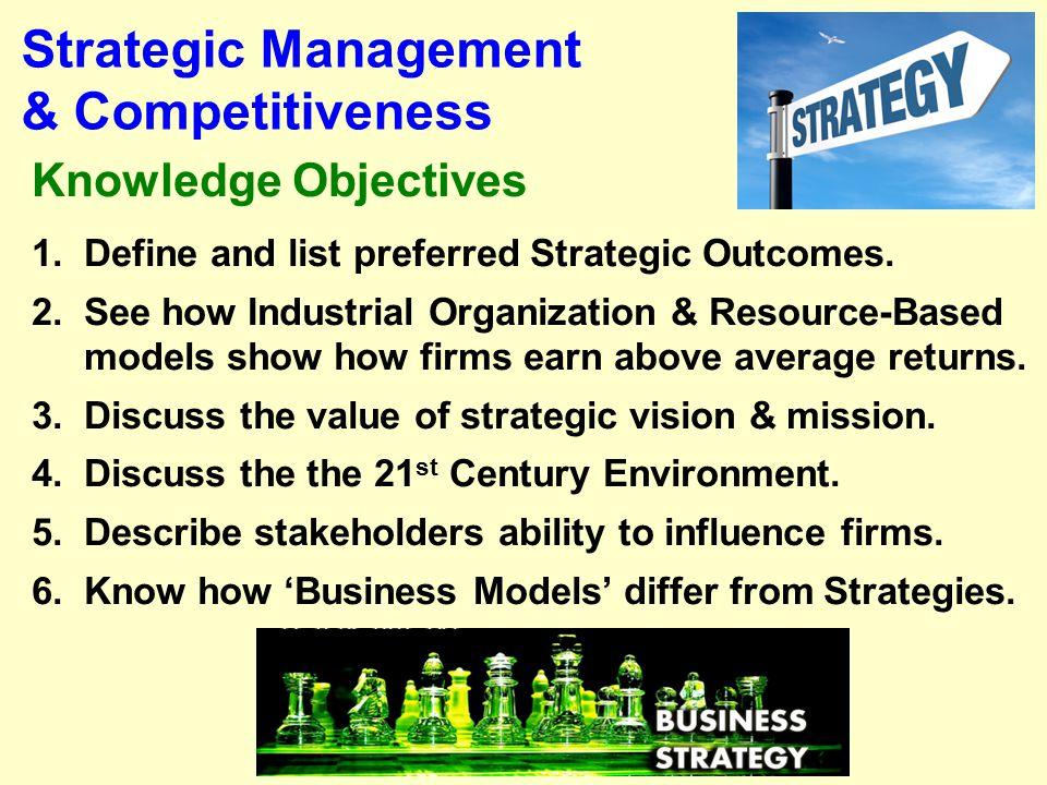 Strategic Management & Competitiveness
