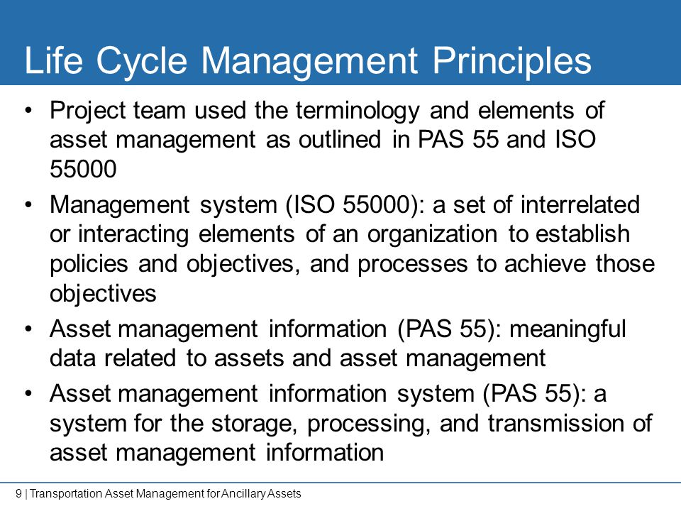 Life Cycle Management Principles