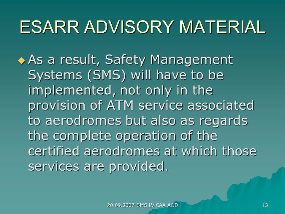 ESARR ADVISORY MATERIAL