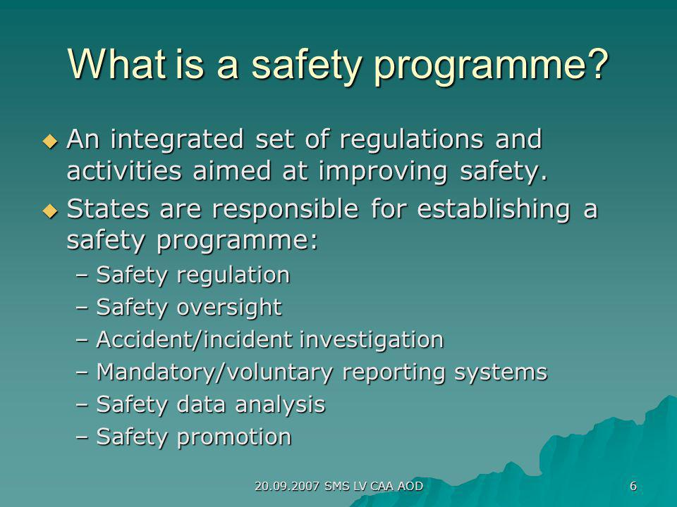 What is a safety programme