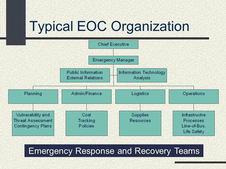 Typical EOC Organization