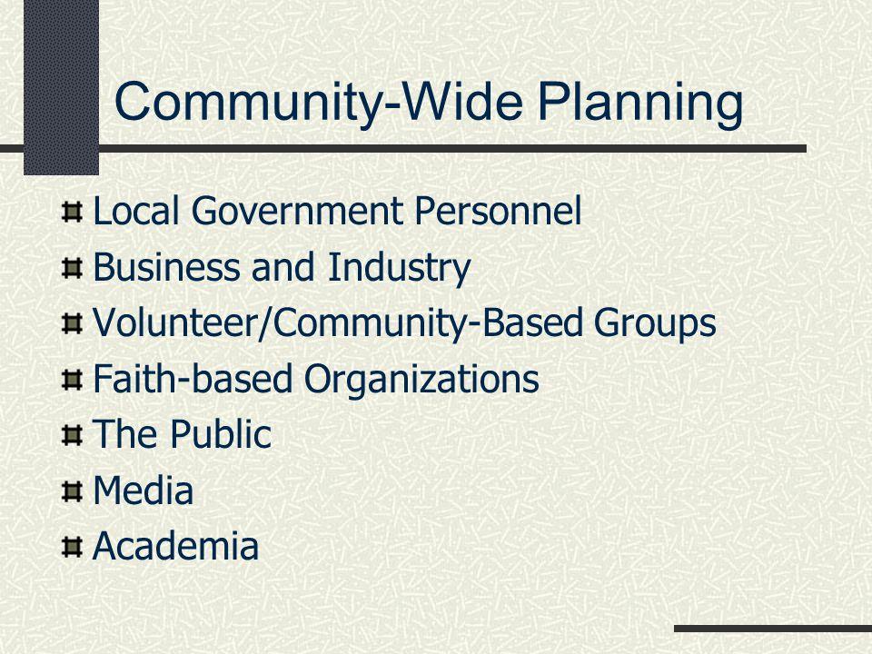 Community-Wide Planning