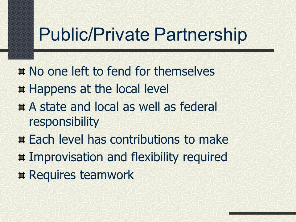Public/Private Partnership