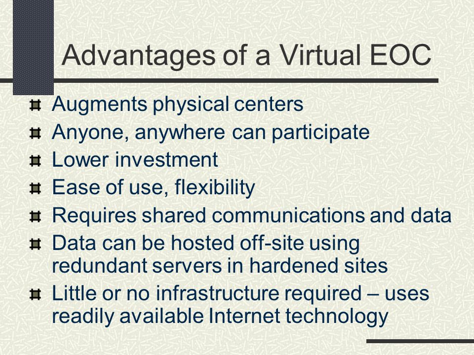Advantages of a Virtual EOC