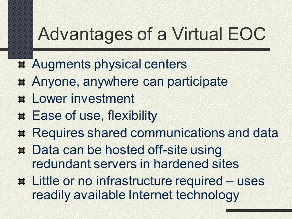 Advantages of a Virtual EOC