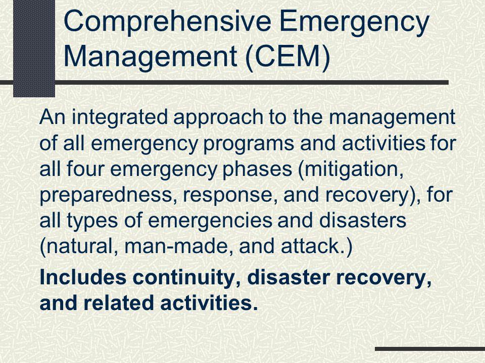 Comprehensive Emergency Management (CEM)