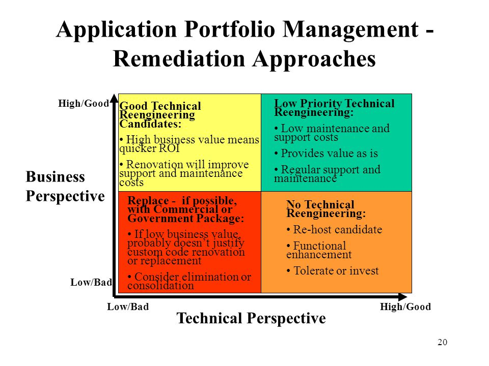 Application Portfolio Management - Remediation Approaches