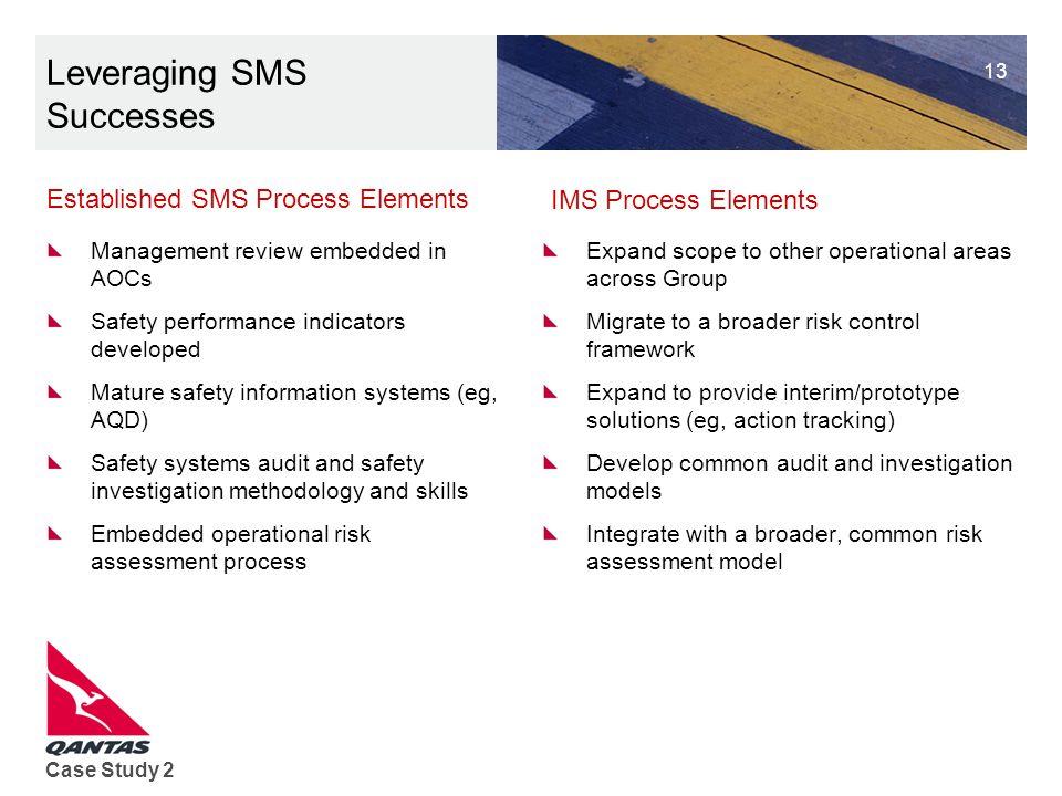 Leveraging SMS Successes