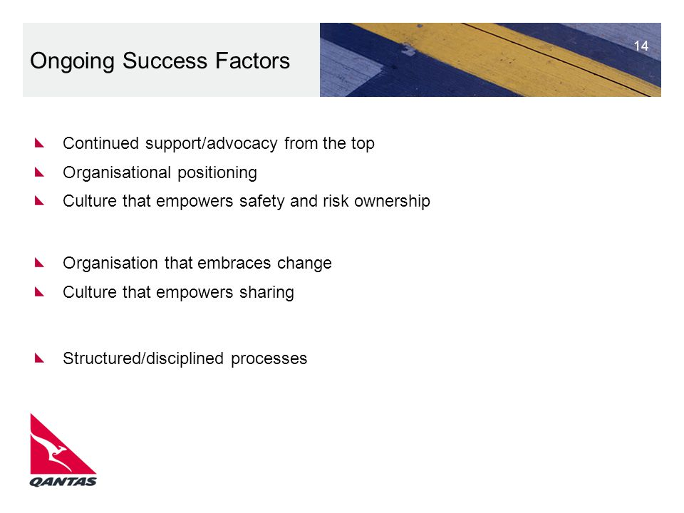 Ongoing Success Factors