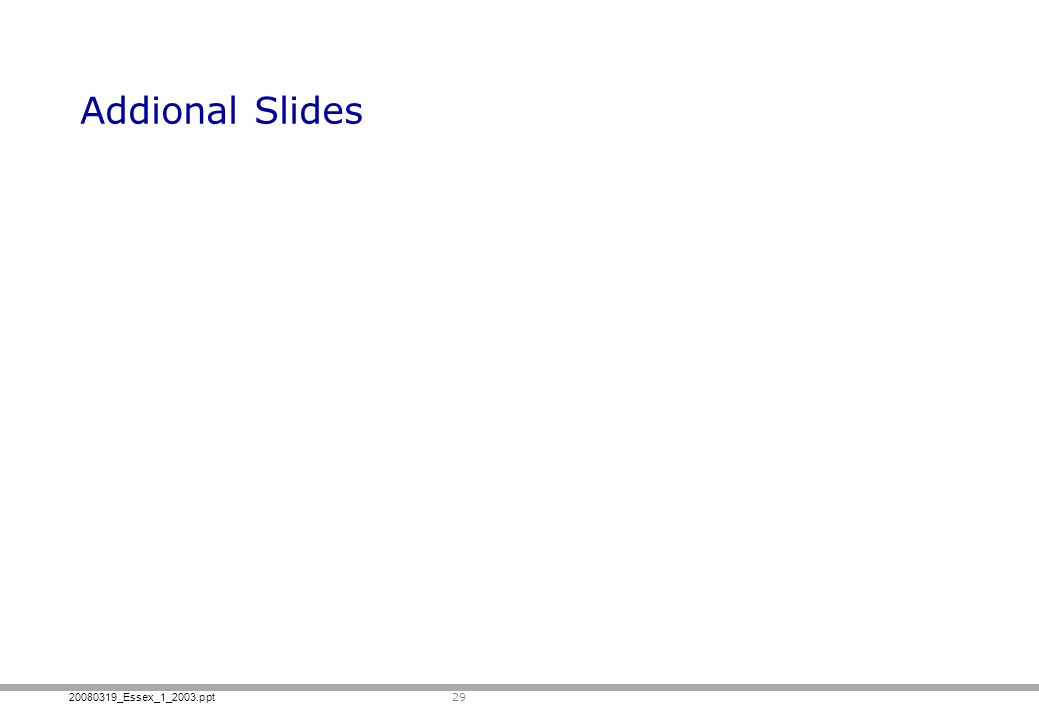 Addional Slides