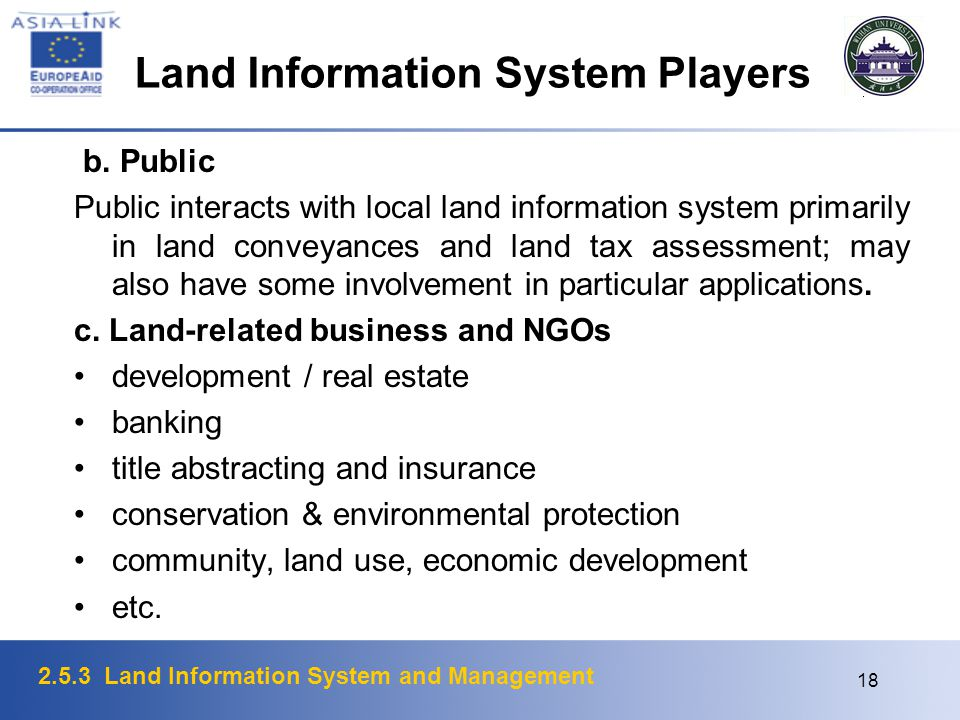 Land Information System Players