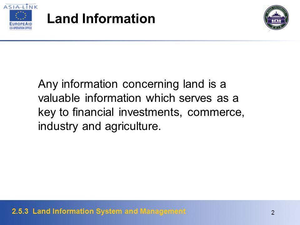 Land Information