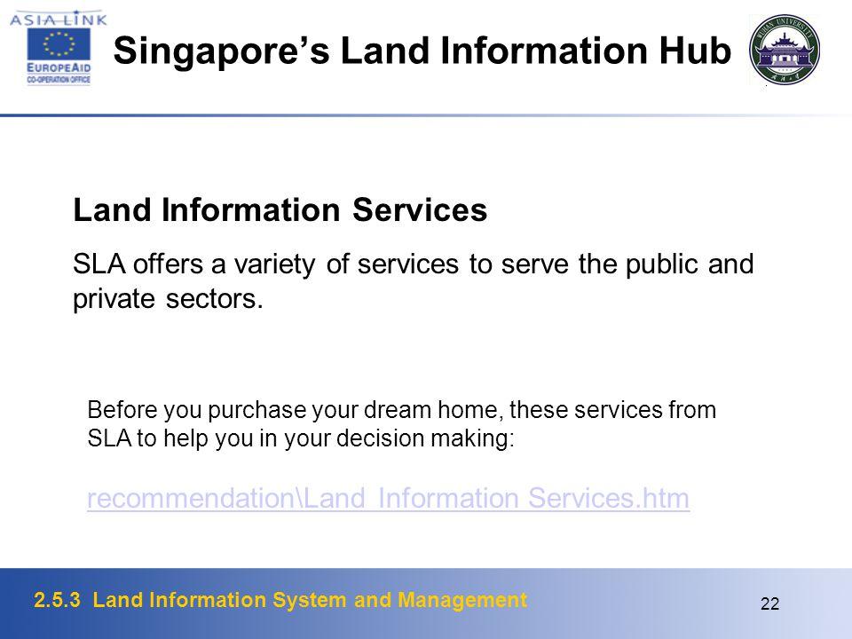 Singapore's Land Information Hub