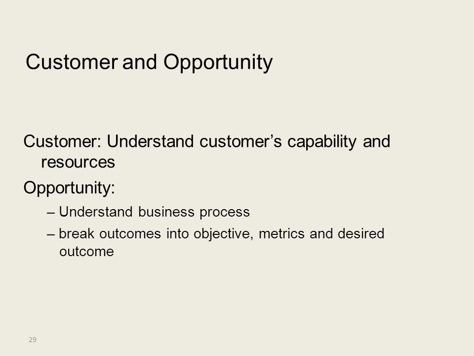 Customer and Opportunity