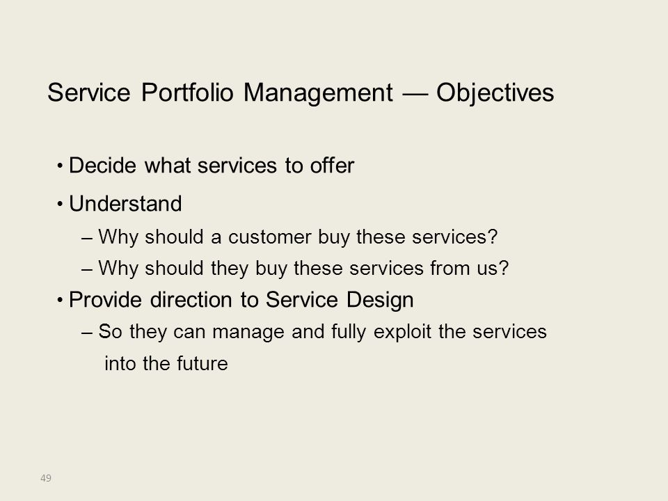 • Decide what services to offer