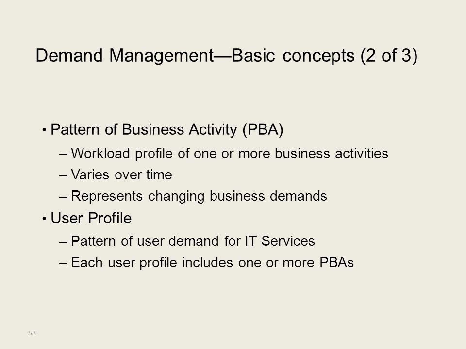 • Pattern of Business Activity (PBA)