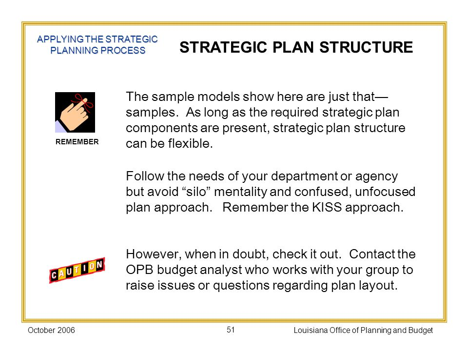 STRATEGIC PLAN STRUCTURE
