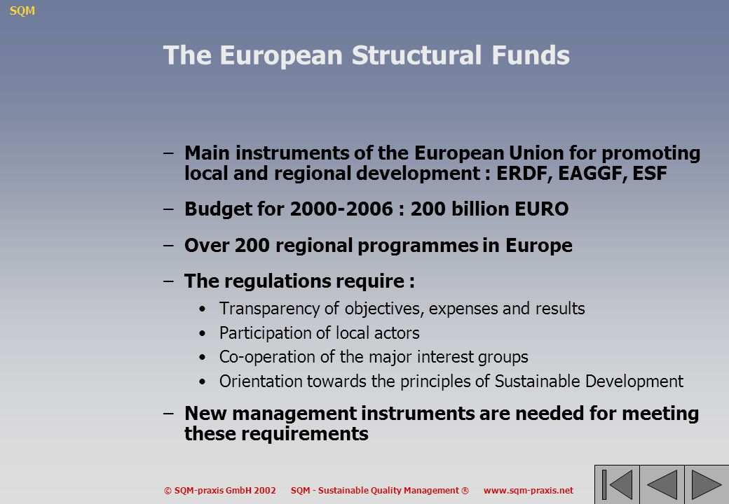 The European Structural Funds