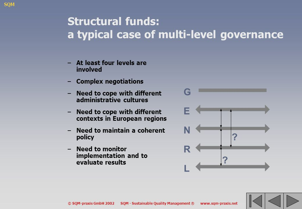 Structural funds: a typical case of multi-level governance