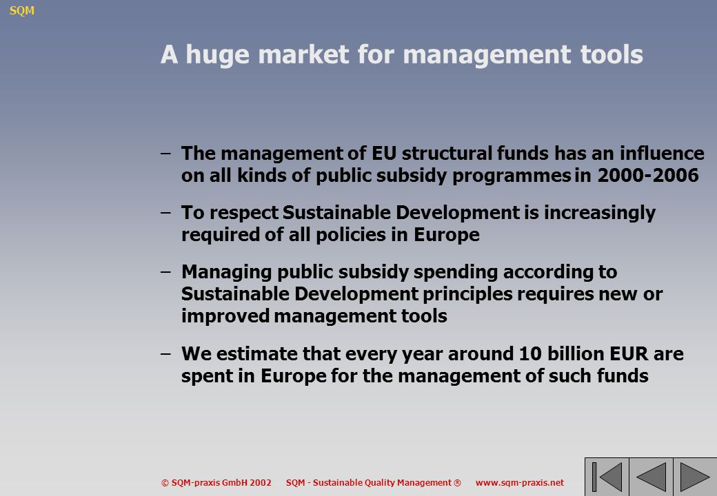 A huge market for management tools