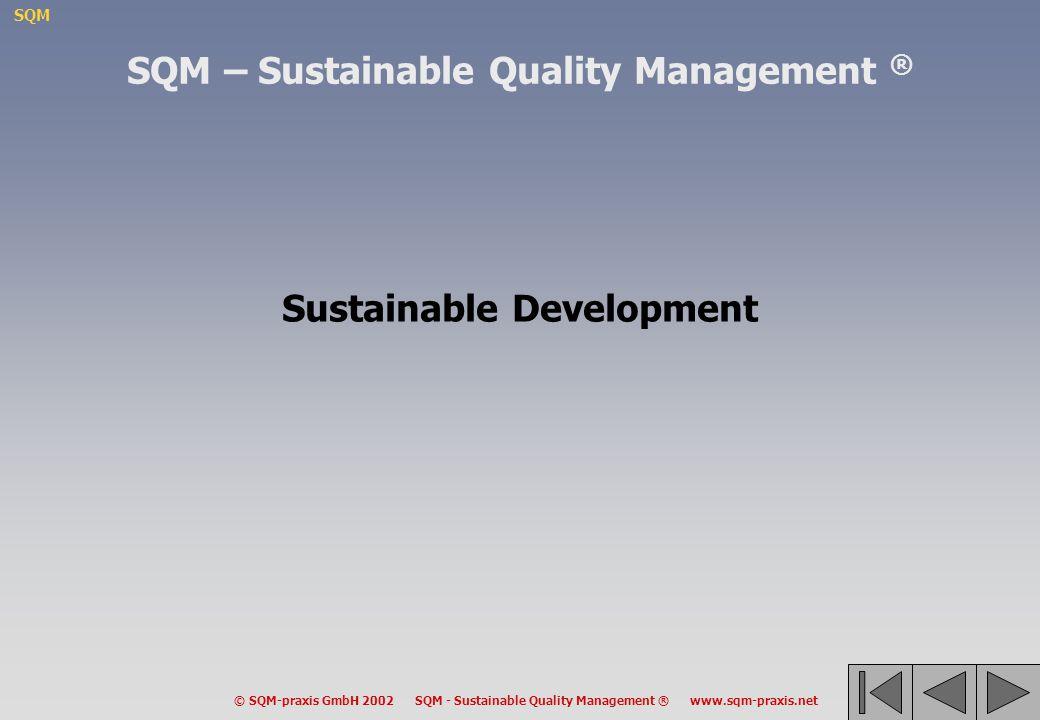 SQM – Sustainable Quality Management ® Sustainable Development