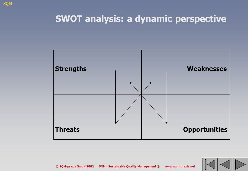 SWOT analysis: a dynamic perspective