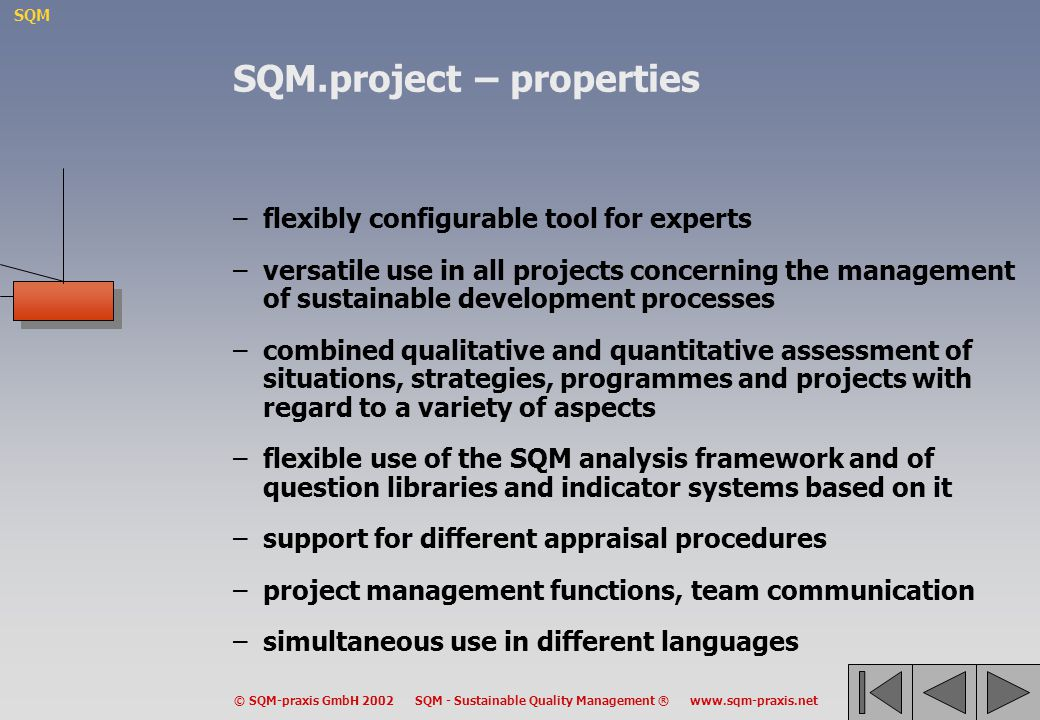 SQM.project – properties