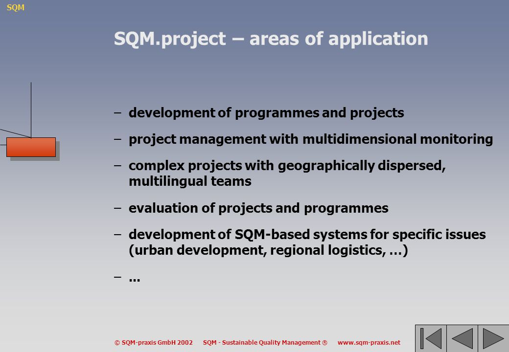 SQM.project – areas of application
