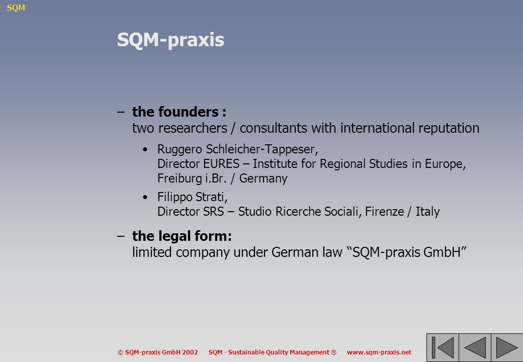 SQM-praxis the founders : two researchers / consultants with international reputation.