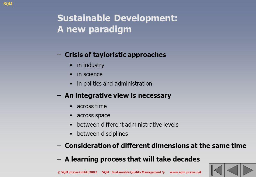 Sustainable Development: A new paradigm