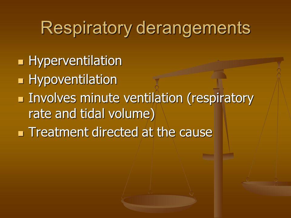 Respiratory derangements