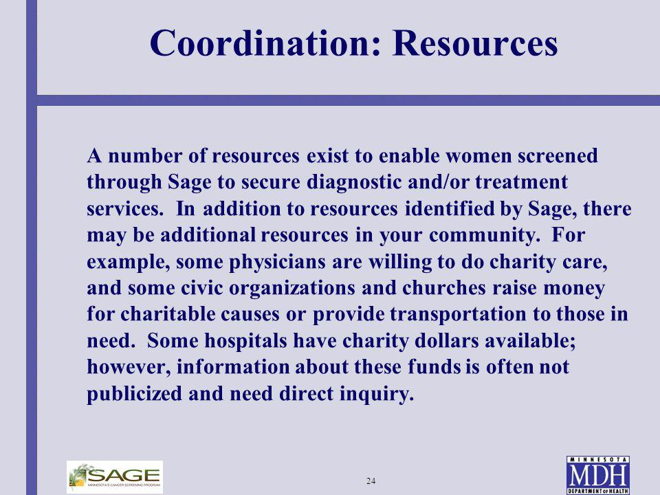 Coordination: Resources