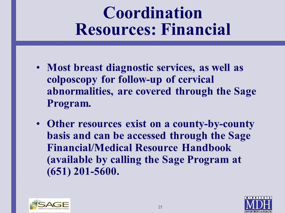 Coordination Resources: Financial