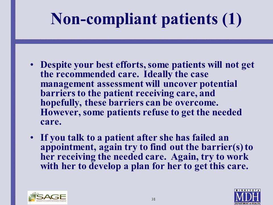 Non-compliant patients (1)