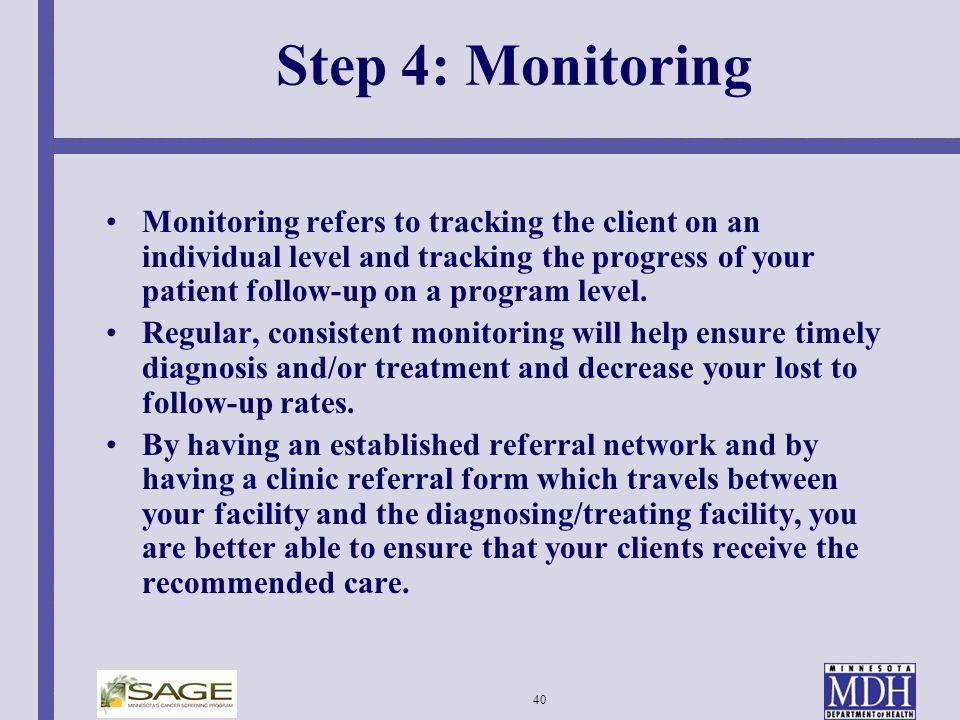Step 4: Monitoring