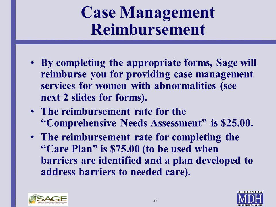 Case Management Reimbursement