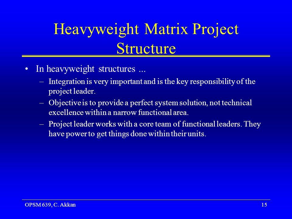 Heavyweight Matrix Project Structure