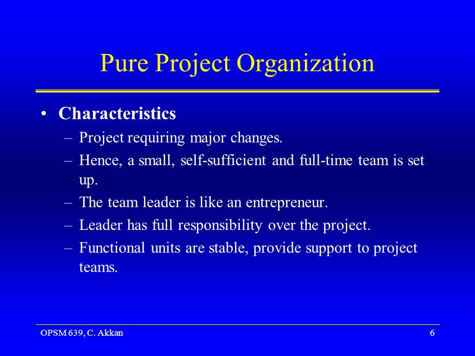 Pure Project Organization
