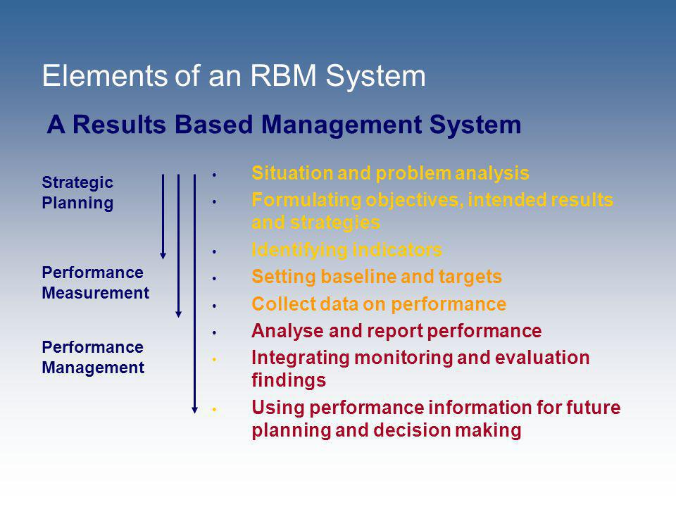 Elements of an RBM System