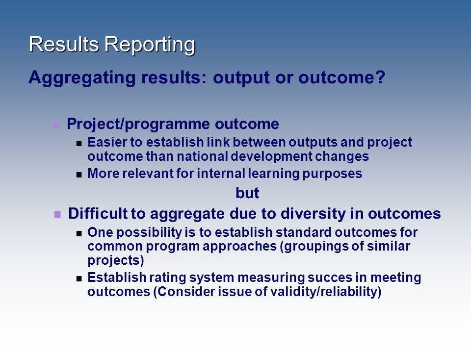 Difficult to aggregate due to diversity in outcomes