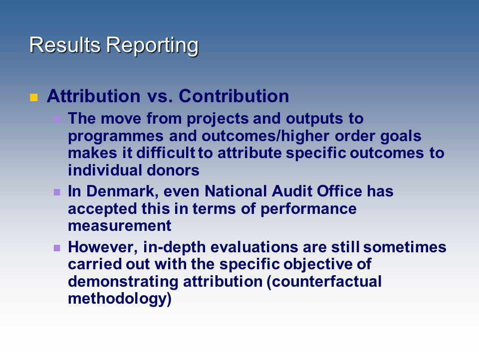 Results Reporting Attribution vs. Contribution