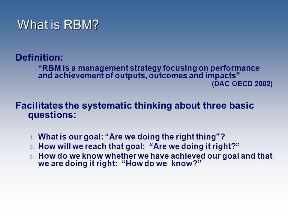 What is RBM Definition: