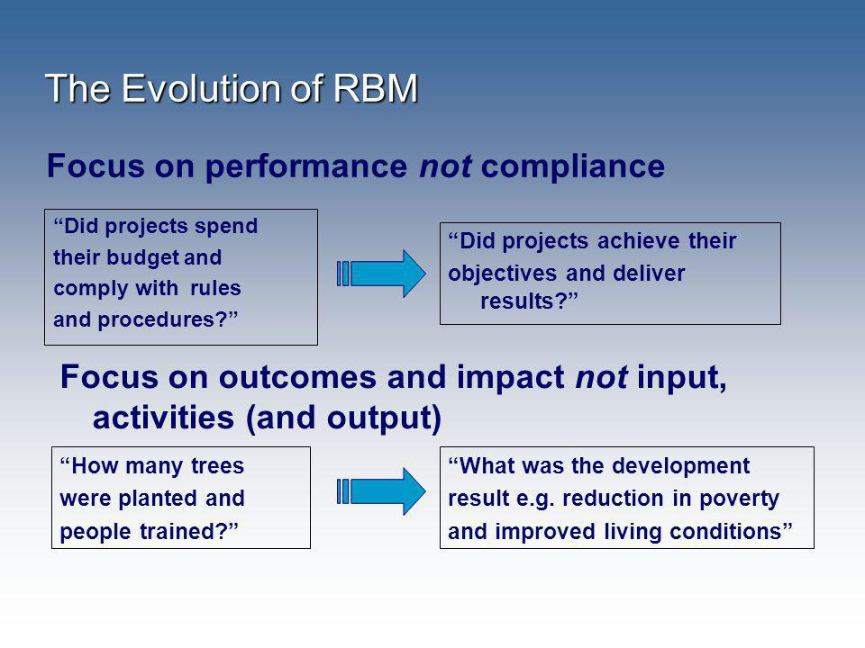 Focus on performance not compliance