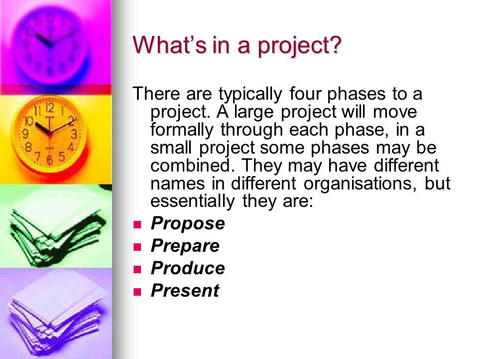What's in a project