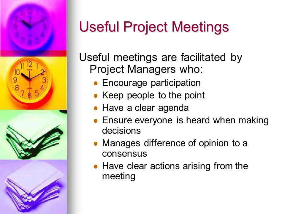 Useful Project Meetings