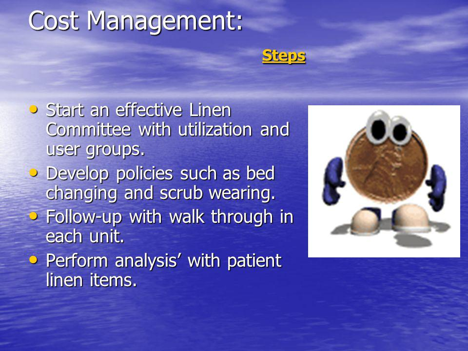Cost Management: Steps