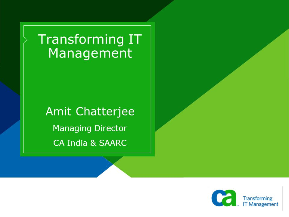Transforming IT Management