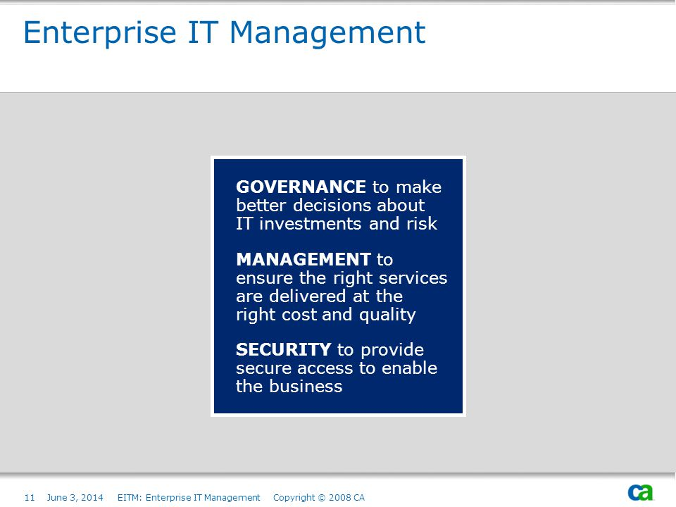 Enterprise IT Management