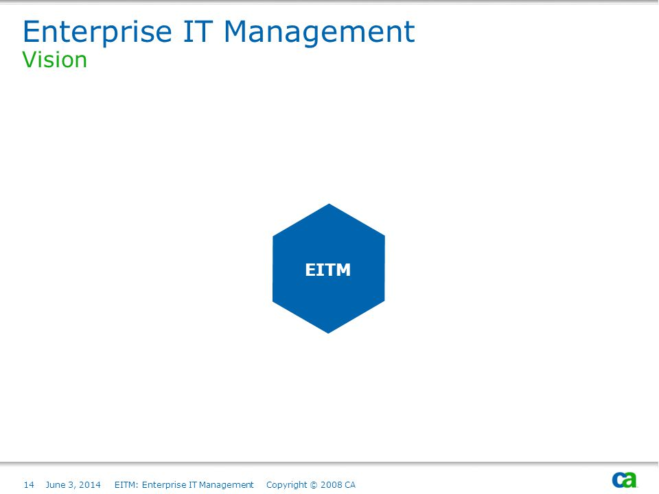 Enterprise IT Management Vision