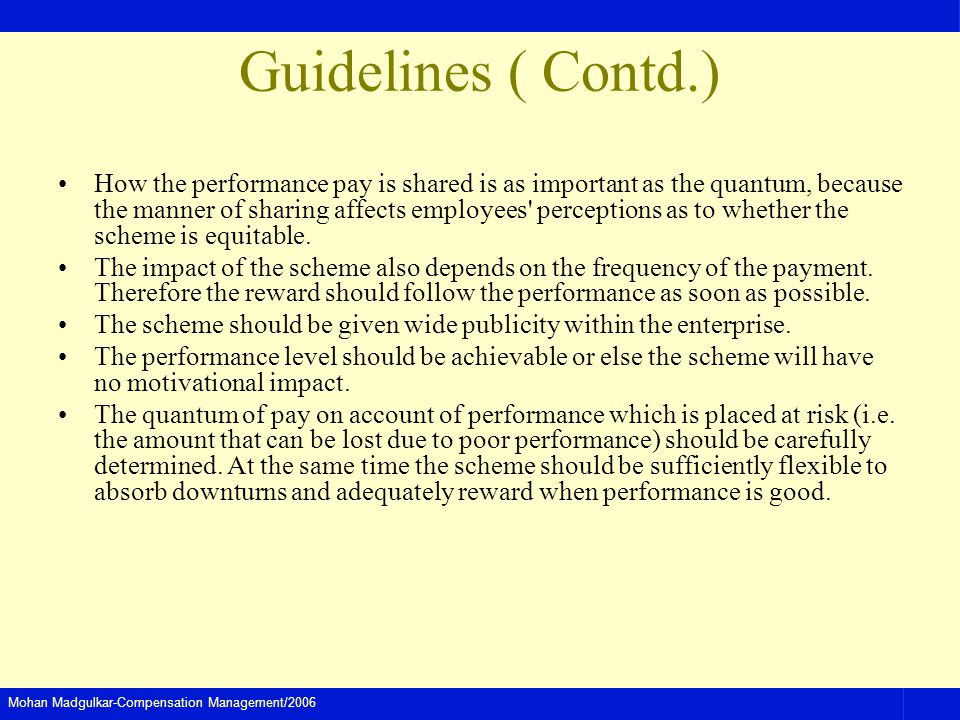 Guidelines ( Contd.)